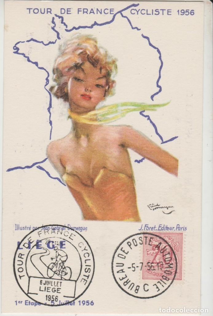 LOTE M-POSTAL TOUR DE FRANCIA CICLISMO MATA SELLOS 1956 (Sellos - Temáticas - Deportes)