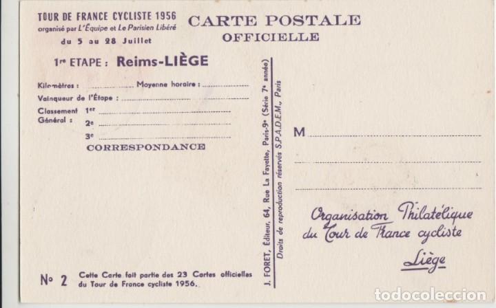 Sellos: LOTE M-POSTAL TOUR DE FRANCIA CICLISMO MATA SELLOS 1956 - Foto 2 - 190835890