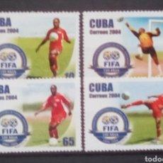Sellos: CUBA CENTENARIO DE LA FIFA SELLO USADO. Lote 191167955