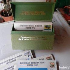 Sellos: CAJA 72 SOBRES PRIMER DIA - CAMPEONATO MUNDIAL DE FUTBOL ESPAÑA 1982 - PERFECTO ESTADO. Lote 191508835
