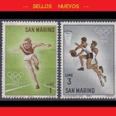 Sellos: LOTE SELLOS NUEVOS - SAN MARINO - DEPORTES OLIMPIADAS - AHORRA GASTOS COMPRA MAS SELLOS. Lote 191649660