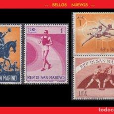 Sellos: LOTE SELLOS NUEVOS - SAN MARINO - DEPORTES - AHORRA GASTOS COMPRA MAS SELLOS. Lote 191649887