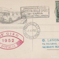 Sellos: LOTE V- POSTAL GIRO ITALIA CICLISMO 1952. Lote 191731977