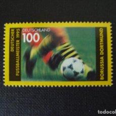 Sellos: ALEMANIA FEDERAL Nº YVERT 1665*** AÑO 1995 FUTBOL. BORUSSIA DE DORTMUND, CAMPEON ALEMANIA 1995. Lote 193450225