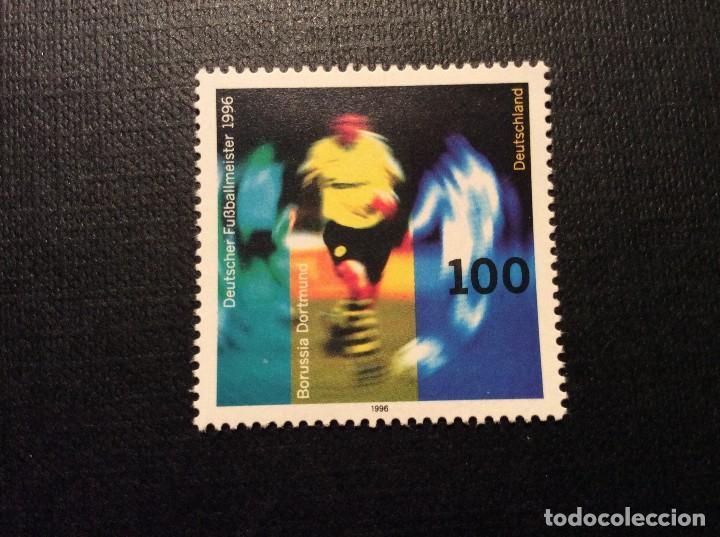 ALEMANIA FEDERAL Nº YVERT 1711*** AÑO 1996. BORUSSIA DORTMUND, CAMPEON ALEMANIA DE FUTBOL 1996 (Sellos - Temáticas - Deportes)