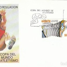 Sellos: EDIFIL 3023, V COPA DEL MUNDO DE ATLETISMO, PRIMER DIA DE 1-9-1989 SOBRE DEL SFC. Lote 194497906