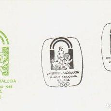 Sellos: AÑO 1988, AÑO 1988, UNISPORT ANDALUCIA, ESCUELA DE NEGOCIOS DEPORTIVOS, MALAGA, EDITADO POR S.P.. Lote 194863377