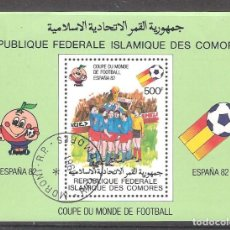 Sellos: COMORES H.B. Nº 29º COPA MUNDIAL DE FÚTBOL ESPAÑA 82. Lote 194888998