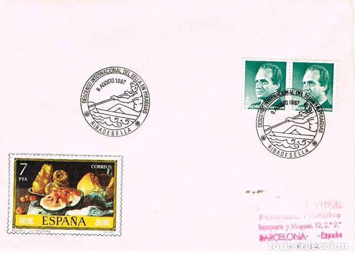 AÑO 1987, DESCENSO INTERNACIONAL DEL SELLA, MATASELLO DE RIBADESELLA (ASTURIAS) (Sellos - Temáticas - Deportes)