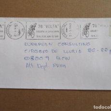 Sellos: CIRCULADA 1996 DE BARCELONA A BCN RODILLO 76 VOLTA CICLISTA A CATALUNYA. Lote 195494698