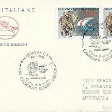 Sellos: 1992. ITALIA/ITALY. SPD/FDC. YT 1932 (2 EJEMPLARES) CAMPEONATO EUROPA ATLETISMO. ATHLETICS. . Lote 195533333