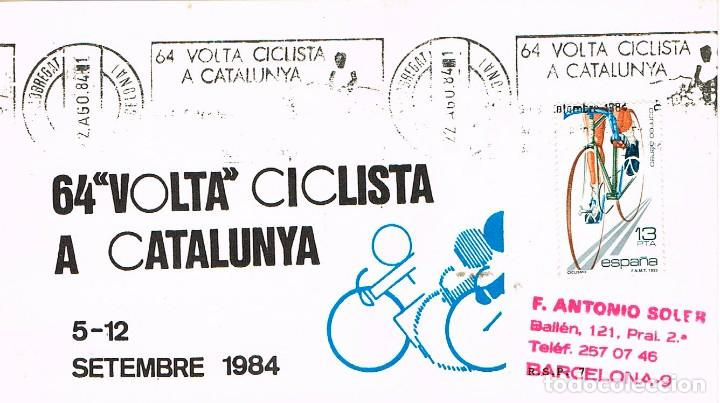 AÑO 1984, VUELTA CICISTA A CATALUÑA, LA VOLTA, RODILLO, ILUSTRADO ES MUY RARO ASÍ (Sellos - Temáticas - Deportes)