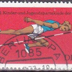 Selos: 1977 - ALEMANIA - DDR - FESTIVAL DEPORTIVO DE LA JUVENTUD - SALTO DE ALTURA - YVERT 1916. Lote 198501705