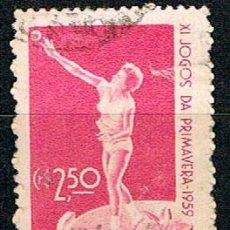 Sellos: BRASIL Nº 978, JUEGOS DEPORTIVOS DE PRIMAVERA, LANZAMIENTO DE PESO, USADO. Lote 199751712