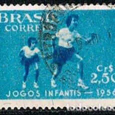Sellos: BRASIL Nº 906, VI JUEGOS DEPORTIVOS INFANTILES, ATLETIOSMO, USADO. Lote 199753192
