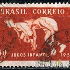 Sellos: BRASIL Nº 894, JUEGOS DEPORTIVOS INMFANTILES, ATLETISMO, USADO. Lote 199753867