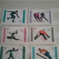 Sellos: SELLOS R. BULGARIA MTDOS/1964/JUEGOS/OLIMPIADAS/INVIERNO/INNSBRUCK/SKY/SALTO/HOKEY/DEPORTE/ATLETAS/. Lote 199842636