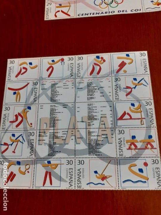 Sellos: sellos sin usar con fijasellos Palmares oro,plata y bronce, Año internacional del Deporte - Foto 2 - 200256021