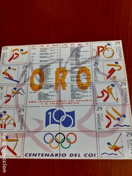 Sellos: sellos sin usar con fijasellos Palmares oro,plata y bronce, Año internacional del Deporte - Foto 4 - 200256021
