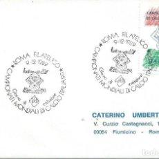 Sellos: 1989. ITALIA/ITALY. MATASELLOS/POSTMARK. SPD/FDC. YT 2996. CAMP. MUNDIAL FÚTBOL ITALIA'90. FOOTBALL.. Lote 200542510