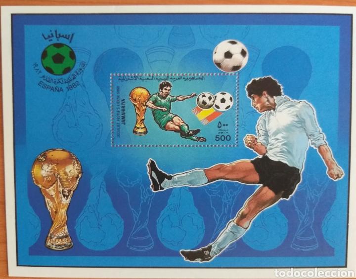 MUNDIAL FUTBOL ESPAÑA '82. LIBIA (Sellos - Temáticas - Deportes)