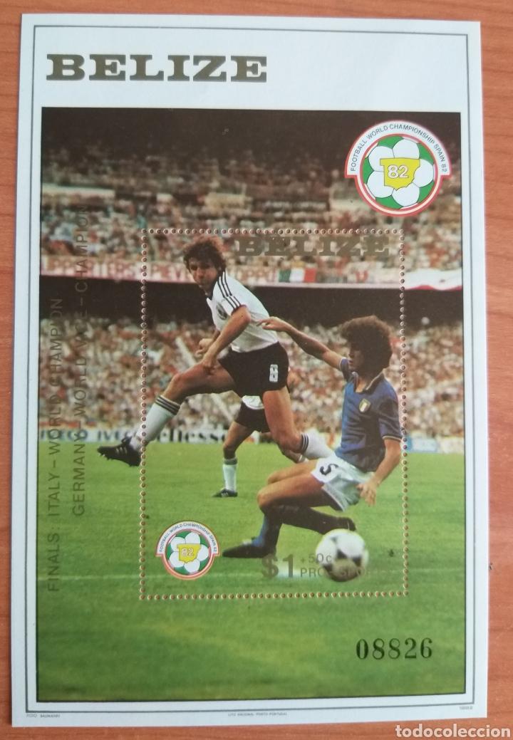 MUNDIAL FUTBOL ESPAÑA '82. BELIZE (Sellos - Temáticas - Deportes)