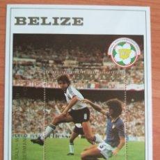 Sellos: MUNDIAL FUTBOL ESPAÑA '82. BELIZE. Lote 202625331