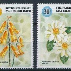 Sellos: BURUNDI 1992 IVERT 954/57 *** FLORES DIVERSAS - FLORA. Lote 203052133