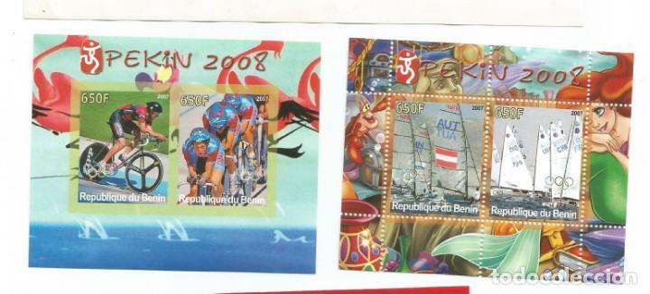 HOJA BLOQUE DE BENIN OLIMPIADAS DE PEKIN 2008 DEPORTES (Sellos - Temáticas - Deportes)