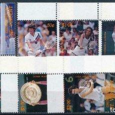 Selos: SAN VICENTE Y GRANADINAS 1988 IVERT 562/9 *** DEPORTES - TENIS - GRANDES JUGADORES. Lote 205014410