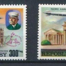 Sellos: MADAGASCAR 1976 AEREO IVERT 167/8 *** 75º ANIVERSARIO DE LOS ZEPPELIN - DIRIGIBLES. Lote 205015252
