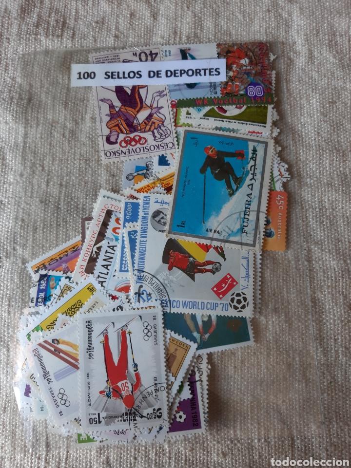 DEPORTES TEMATICA 100 SELLOS FORMATO GRSNDE (Sellos - Temáticas - Deportes)