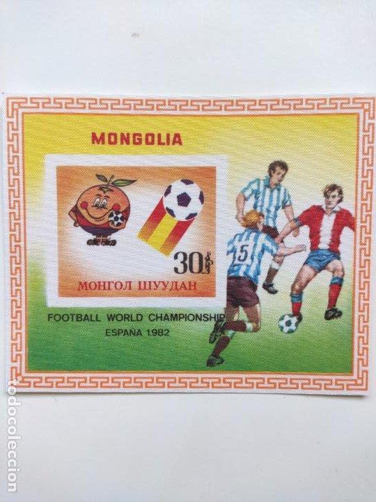 Sellos: Mongolia mundial futbol España 82 6 HB serie completa en seda Michel BL 78-83 - Foto 3 - 205597535