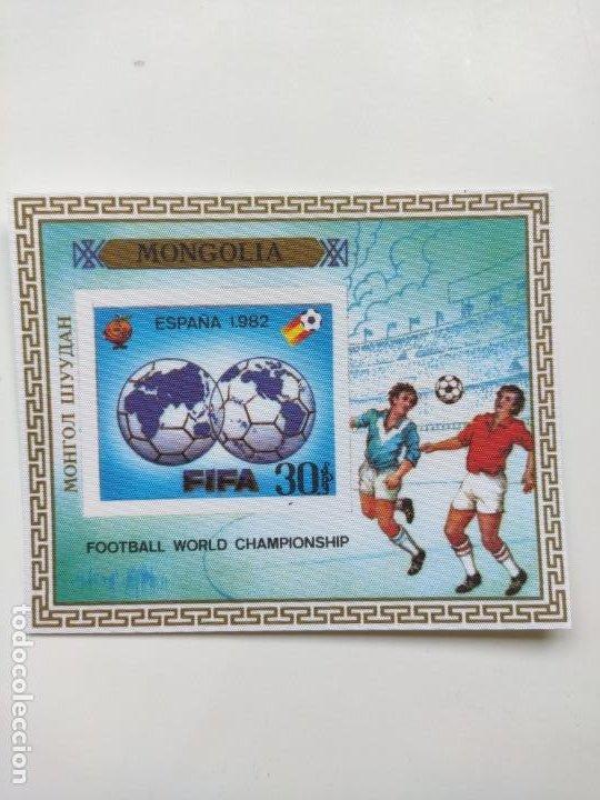 Sellos: Mongolia mundial futbol España 82 6 HB serie completa en seda Michel BL 78-83 - Foto 4 - 205597535