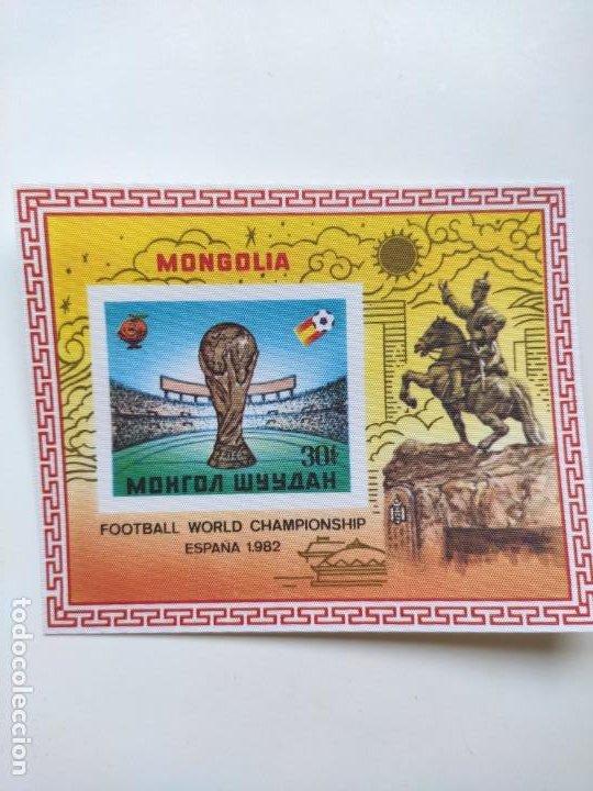 Sellos: Mongolia mundial futbol España 82 6 HB serie completa en seda Michel BL 78-83 - Foto 5 - 205597535