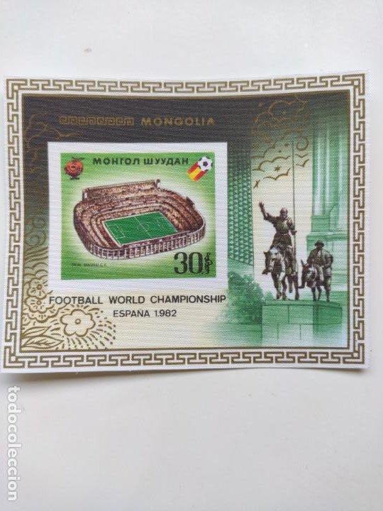 Sellos: Mongolia mundial futbol España 82 6 HB serie completa en seda Michel BL 78-83 - Foto 7 - 205597535