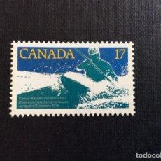 Sellos: CANADA Nº YVERT 708*** AÑO 1979. DEPORTES.CAMPEONATOS DE KAYAK. Lote 205604316