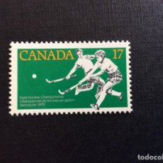 Sellos: CANADA Nº YVERT 709*** AÑO 1979. DEPORTES.CAMPEONATOS DE HOCKEY SOBRE HIERBA. Lote 205604375