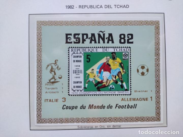 Sellos: Republica del Chad sellos España 82 2 HB sobreimpresion Italia Campeon marcadores plata - Foto 2 - 205685061