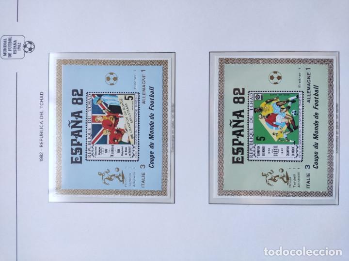 Sellos: Republica del Chad sellos España 82 2 HB sobreimpresion Italia Campeon marcadores plata - Foto 3 - 205685061