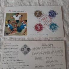 Sellos: TOKIO JAPÓN CARTA OLÍMPICA MATASELLO FÚTBOL PIRAGÜISMO HATELOFILIA DEPORTES. Lote 205815291