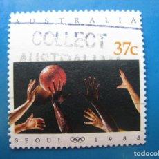 Sellos: +AUSTRALIA 1988, JUEGOS OLIMPICOS DE SEUL, YVERT 1094. Lote 206251056