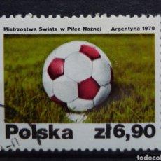 Timbres: MUNDIAL FUTBOL ARGENTINA 78 SELLO USADO DE POLONIA. Lote 206957526