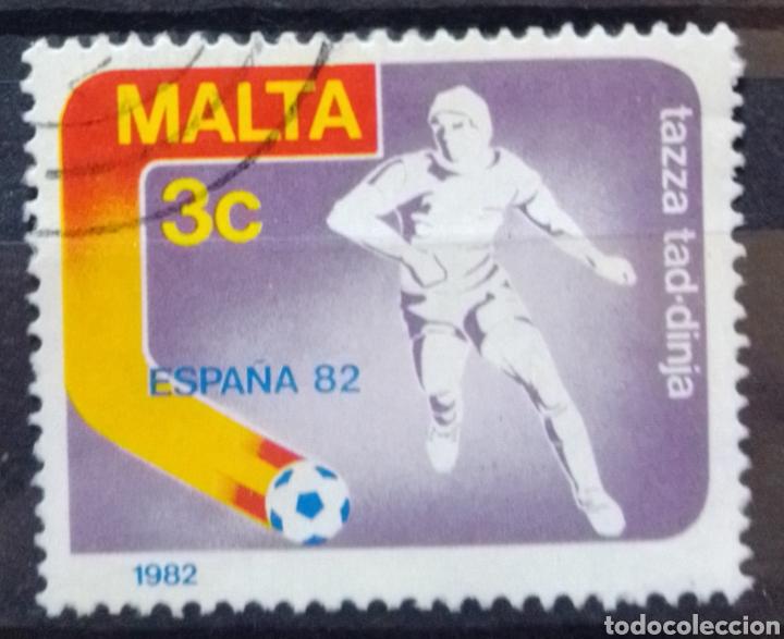 MUNDIAL FUTBOL ESPAÑA 82 SELLO USADO (Sellos - Temáticas - Deportes)