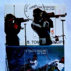 Sellos: OLÍMPIADAS DE ATLANTA 1996, 2 HOJAS BLOQUE DE SELLOS USADOS DE ST. TOMÉ Y PRÍNCIPE. Lote 206958073