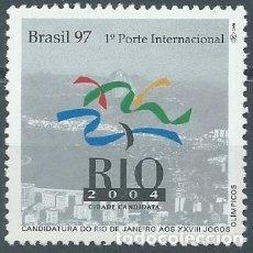 Sellos: 1997. BRASIL/BRAZIL. CANDIDATURA RIO JANEIRO JUEGOS OLÍMPICOS 2004. OLYMPIC GAMES.. Lote 207142366