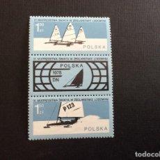 Sellos: POLONIA Nº YVERT 2368/9*** AÑO 1978. DEPORTES. CAMPEONATOS DEL MUNDO DE YACHTING SOBRE HIELO.. Lote 207343226