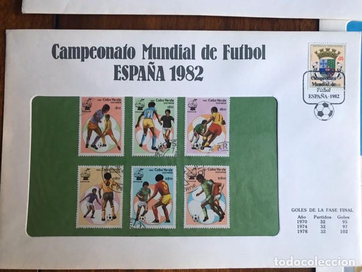 Sellos: Lote de 21 sobre sellos campeonato mundial fútbol 1982 y regalo - Foto 3 - 207871870