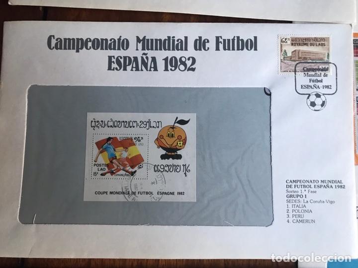 Sellos: Lote de 21 sobre sellos campeonato mundial fútbol 1982 y regalo - Foto 4 - 207871870