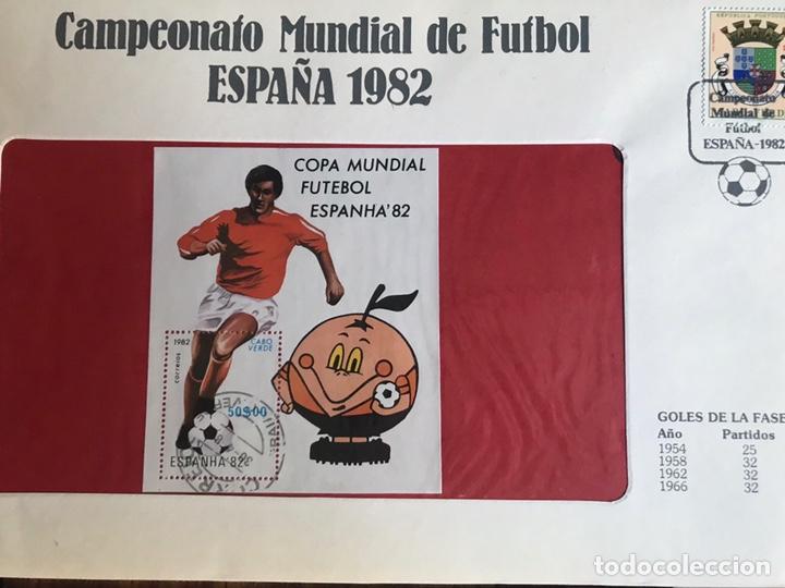 Sellos: Lote de 21 sobre sellos campeonato mundial fútbol 1982 y regalo - Foto 5 - 207871870